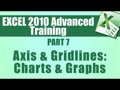 Microsoft Excel Training Advanced - Part 7 -  Formatting Axis and Gridlines within Charts and Graphs