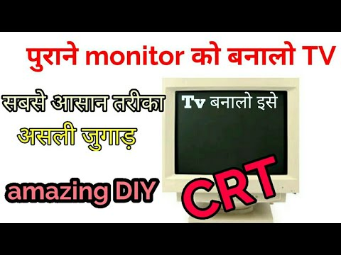 Make TV From Old CRT Monitor Most Awaited Video With Free DTH