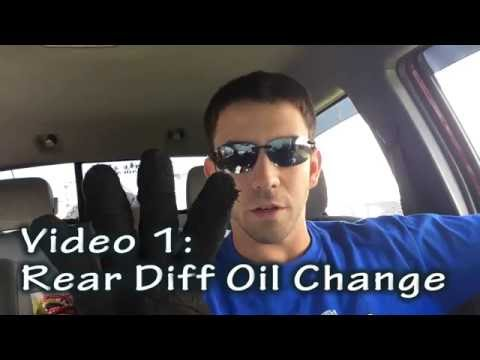 Toyota Tacoma Rear Differential Fluid Change - Not Full VIDEO (see description)