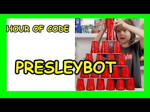 Hour of Code - Is Presley a Robot? My Robotic Friends CSEdWeek 2015 - Day 912 | ActOutGames