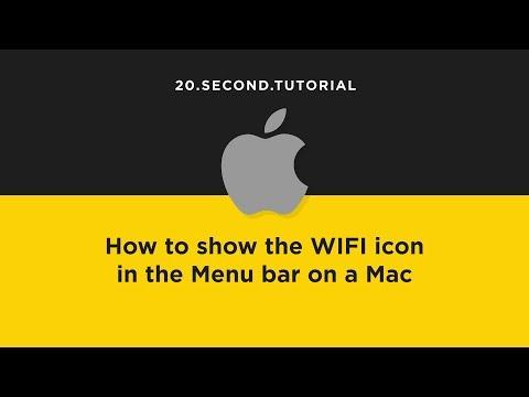 Show WIFI in the Menu bar on a Mac   Mac Computer Tutorial #14