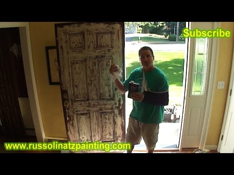 How to Paint a Stained Fiberglass Door (Part 1)