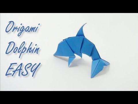Origami DOLPHIN easy - Yakomoga easy Origami tutorial