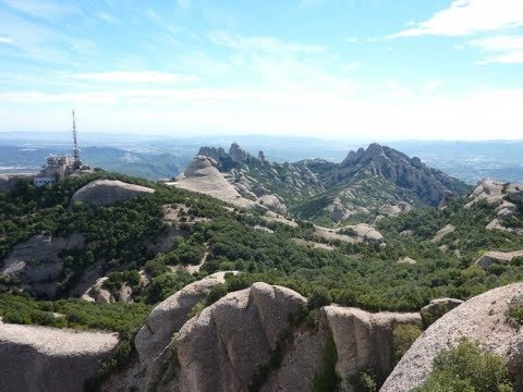 Montserrat ascent, Catalonia, Spain