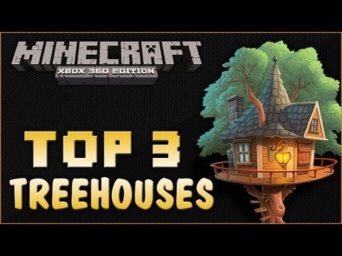 Minecraft Xbox 360 | Amazing Tree House Builds | Tree House Build Off