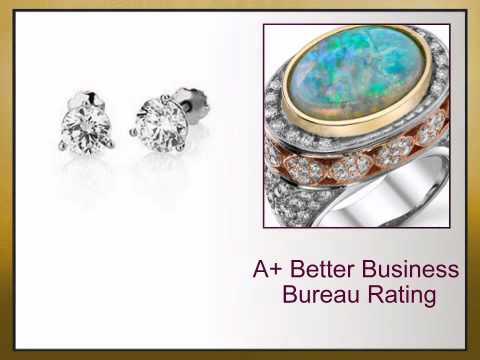 Classic Diamond Stud Earrings in Platinum - Choose Diamond Size - africagems.com