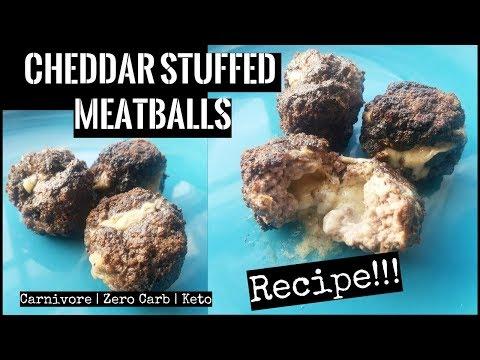 Cheddar Stuffed Meatballs Recipe | Carnivore, Zero Carb, Keto