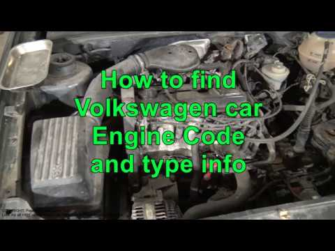 How to find Volkswagen Golf Jetta car engine Code and Type info