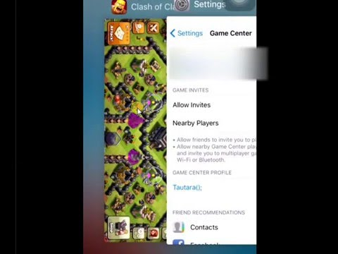 How to change clash of clans account for ios
