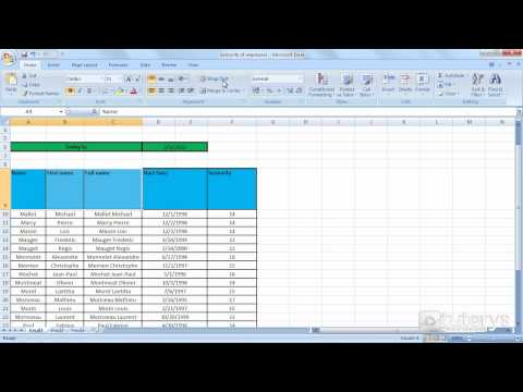 How to change text alignment with Excel 2007?