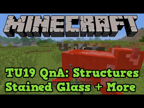 Minecraft Xbox 360 + PS3 TU19 QnA: New Structures, Stained Glass + HD