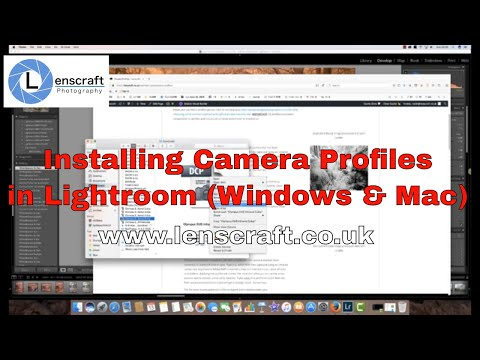 Installing Camera Profiles in Lightroom (Windows and Mac)
