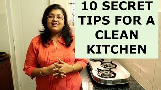 10 Secrets For Keeping Kitchen Always Clean And Organized    Kitchen Cleaning Tips & Tricks in Hindi