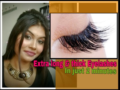 Get Long & Thick Eyelashes in Just 2 Minutes | Easiest Technique Ever