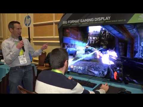 HP Big Format Gaming Display ( BFGD ) CES 2018 Snippet