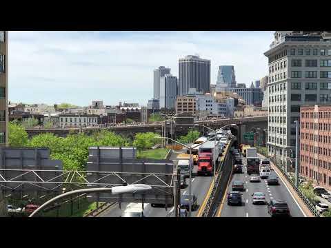 Looking toward Brooklyn Bridge from Manhattan Bridge, New York (5-11-18)