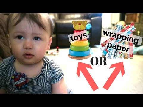 DO BABIES REALLY PREFER WRAPPING PAPER OVER TOYS??