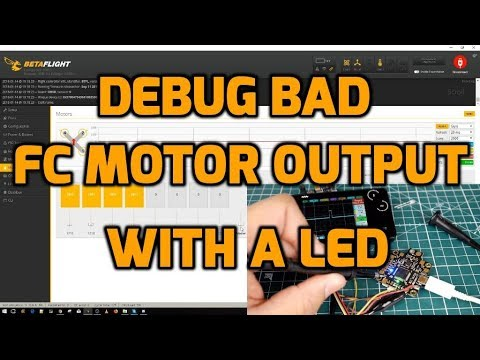 How to Test Flight Controller Motor Output with LED and or Oscilloscope