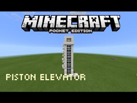 How to make piston Elevator In MCPE!! Redstone Tutorial in 17.0 [Redstone Creation]
