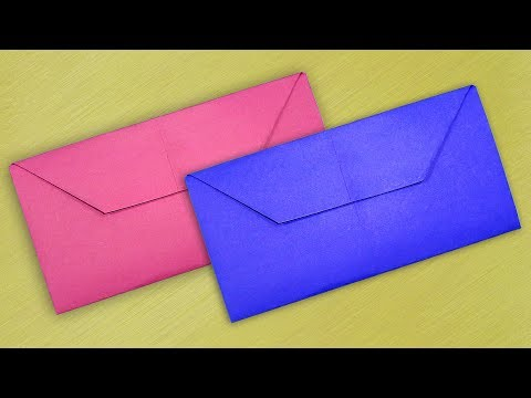 Simple Envelope Making With Color Paper Without Glue - DIY Homemade Envelope