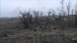 Донбасс: Обстрел поселка Пески. 24.03.2015