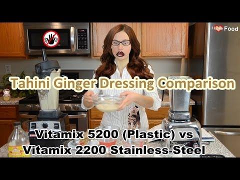 Vitamix 5200 vs 2200 Recipe Comparison: Raw Tahini Ginger Dressing