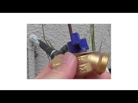 How To Replace Hose Bibb Hose Faucet Hose Valve in Garden