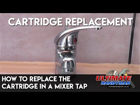How to replace the cartridge in a mixer tap
