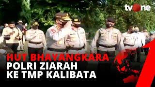 Sambut HUT Bhayangkara, Polri Laksanakan Upacara Ziarah di TMP Kalibata | tvOne