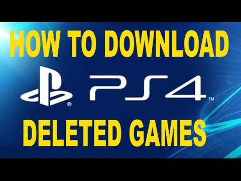 How to Download Deleted PS4 Games HACK