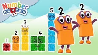 Numberblocks - Stampolines, Double Trouble & More Adventures!   Learn to Count