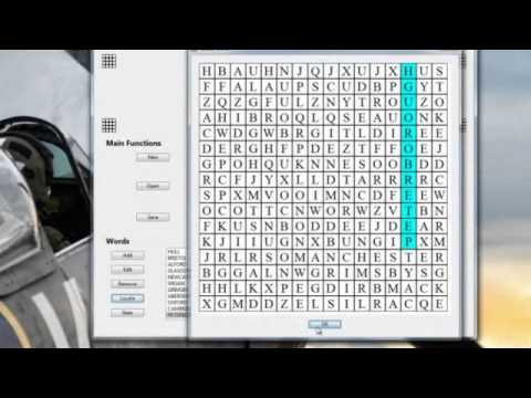 Free program to create Word Search puzzles
