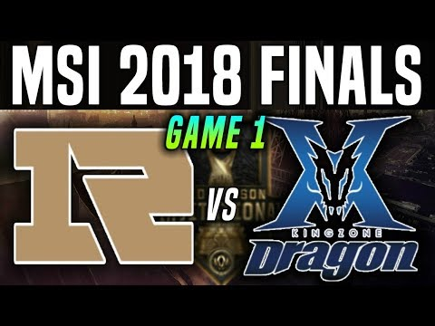 RNG vs KZ Game 1 - MSI 2018 Final - Royal Never Give Up vs Kingzone DragonX | League Of Legends MSI