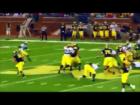 The University of Michigan Wolverines Football 2014 Team 135 Preseason Scrimmage