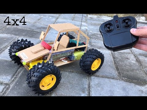 How to Make Amazing DIY RC Car at Home - Powerful 4WD Electric Car