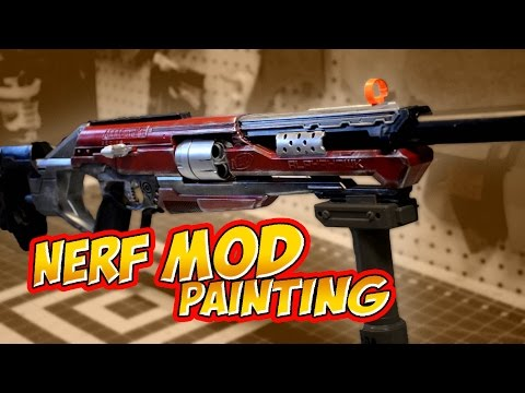 Nerf Mod RedHood Accustrike Alphahawk how to paint