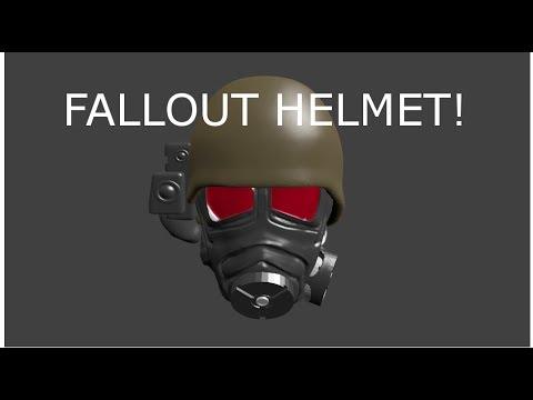 Blender 3d modeling Fallout New Vegas Helmet