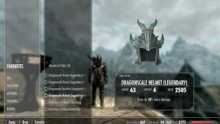 Skyrim Gameplay - Archer Skills, Stats, Weapons and Armor at Level 40