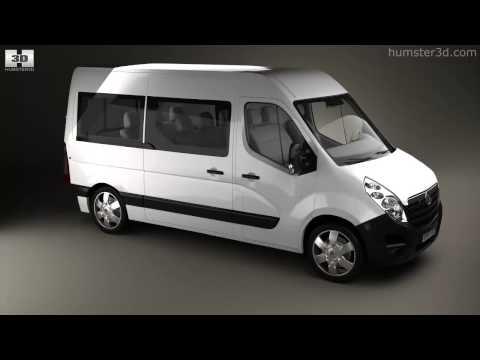 Vauxhall Movano Passenger Van 2010 by 3D model store Humster3D.com