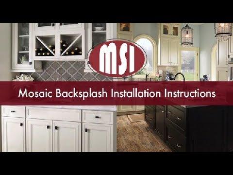 Mosaic Tile Backsplash Installation Instructions