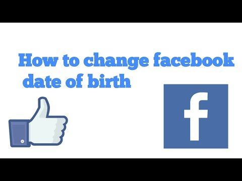 How to change your facebook date of birth on Android app //2018