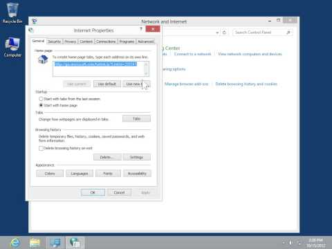 Windows 8.0 Professional - Delete Internet Browsing History and Cookies