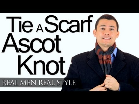 Ascot Scarf Knot - Tying A Man's Scarf - How To Tie Scarves For Men - Wrap-Around Ascot