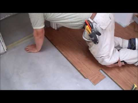 How to Install Laminate Flooring on Concrete Slab in Tiny Room Mryoucandoityourself
