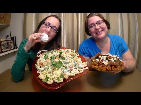 Fruity Russian Marshmallow (Zefir)  Macaroni Salad With Pepperoni And Ratatouille Mukbang (먹방)