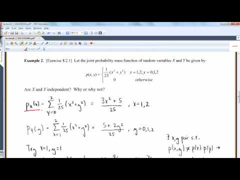 MA 381: Section 8.2: Independent Random Variables