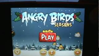 Angry Birds Seasons Greedings Theme