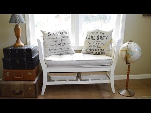How To Make A DIY Salvaged Chair French Bench - AnOregonCottage.com