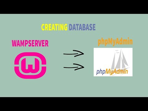 How to create a database in PHPMyAdmin using localhost wamp server