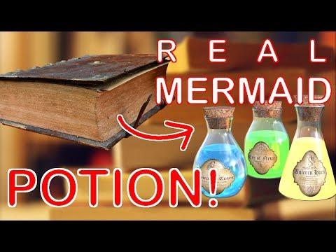 REAL mermaid potion🍶🚱 CONFIRMED from OLD BOOK! 📖 - Mermaid Spells